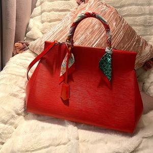 Louis Vuitton Epi Marly MM Bag - Red